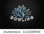 vector realistic isolated neon... | Shutterstock .eps vector #1112209043
