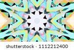 geometric design  mosaic of a... | Shutterstock .eps vector #1112212400