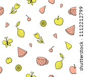 seamless pattern with fruits... | Shutterstock .eps vector #1112212799