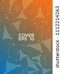 trendy report template. global... | Shutterstock .eps vector #1112214263