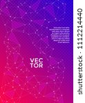 trendy cover page layout.... | Shutterstock .eps vector #1112214440