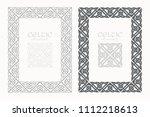 celtic knot braided frame... | Shutterstock .eps vector #1112218613