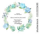 wedding floral card | Shutterstock . vector #1112222630