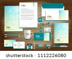 corporate identity business ... | Shutterstock .eps vector #1112226080
