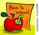 fun grungy cartoon of friendly... | Shutterstock . vector #111222980