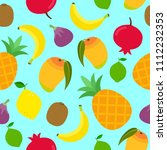 seamless summer pattern with...   Shutterstock .eps vector #1112232353
