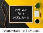 chalkboard or blackboard with... | Shutterstock . vector #1112240603