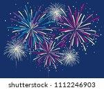 Festive Color Firework. Vector...
