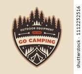 forest camp badge patch design | Shutterstock .eps vector #1112252516