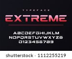 extreme trendy futuristic and... | Shutterstock .eps vector #1112255219