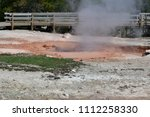 Small photo of red spouter is a fumarole in the fountain paint pot area of yellowstone national park