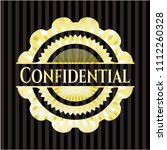 confidential gold badge | Shutterstock .eps vector #1112260328
