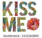 hand painted art design. hand...   Shutterstock .eps vector #1112262800