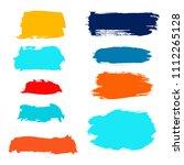 vector grunge watercolor ink... | Shutterstock .eps vector #1112265128