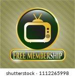 golden emblem or badge with... | Shutterstock .eps vector #1112265998