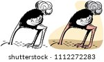 an ostrich with its head buried ... | Shutterstock .eps vector #1112272283