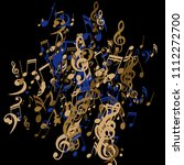 musical signs. modern... | Shutterstock .eps vector #1112272700
