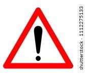 caution warning symbol sign... | Shutterstock .eps vector #1112275133