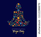 international yoga day card for ... | Shutterstock .eps vector #1112288870