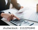 finances saving economy concept.... | Shutterstock . vector #1112291840