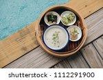 concept promotional morning... | Shutterstock . vector #1112291900