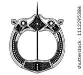 brooch fibula. medieval viking  ... | Shutterstock .eps vector #1112295386