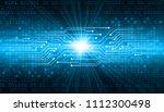 binary circuit board future...   Shutterstock .eps vector #1112300498