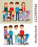 group of family members avatars ... | Shutterstock .eps vector #1112304566