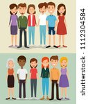 group of friends characters | Shutterstock .eps vector #1112304584