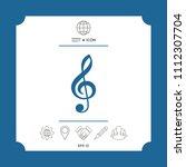 treble clef icon | Shutterstock .eps vector #1112307704