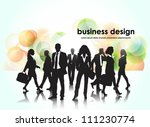 template of a group of business ... | Shutterstock .eps vector #111230774