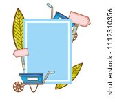 emblem with watering can and... | Shutterstock .eps vector #1112310356