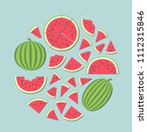 vector illustration  set of red ... | Shutterstock .eps vector #1112315846