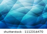light blue vector triangle... | Shutterstock .eps vector #1112316470