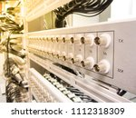 patch panel for e1 bnc... | Shutterstock . vector #1112318309