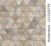 triangle chex tiles elevation... | Shutterstock . vector #1112320739