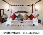 freshly laundered animal fluffy ... | Shutterstock . vector #1112331068