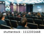 blur of business conference and ... | Shutterstock . vector #1112331668