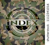 index on camouflage texture | Shutterstock .eps vector #1112341016