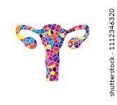 human anatomy. uterus sign.... | Shutterstock .eps vector #1112346320