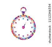 stopwatch sign illustration.... | Shutterstock .eps vector #1112346554