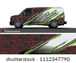 car decal design vector.... | Shutterstock .eps vector #1112347790