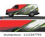 car decal design vector.... | Shutterstock .eps vector #1112347793