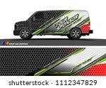 car decal design vector.... | Shutterstock .eps vector #1112347829