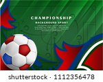 soccer sport on tactics... | Shutterstock .eps vector #1112356478