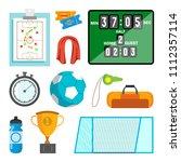 handball icons set. handball... | Shutterstock . vector #1112357114