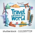 travel around the world vector... | Shutterstock .eps vector #1112357729