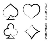 playing card brush symbols.... | Shutterstock .eps vector #1112357960
