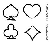 playing card brush symbols.... | Shutterstock .eps vector #1112359049