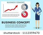 business concept. businesswoman ... | Shutterstock .eps vector #1112359670
